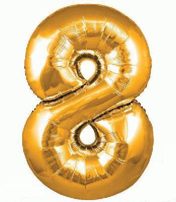 Ballon Chiffre 8 Taille 86 cm DORE