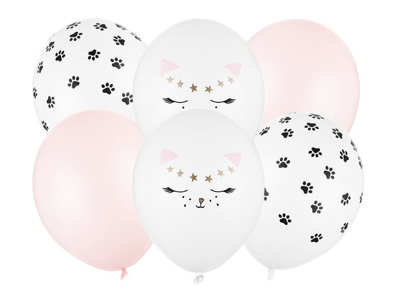 6 Ballons anniversaire chat