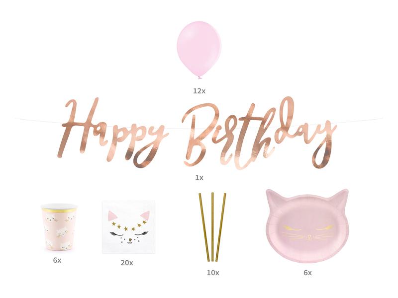 Kit anniversaire thème chat