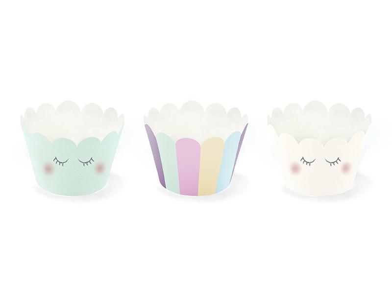 6 décors Cupcakes licorne