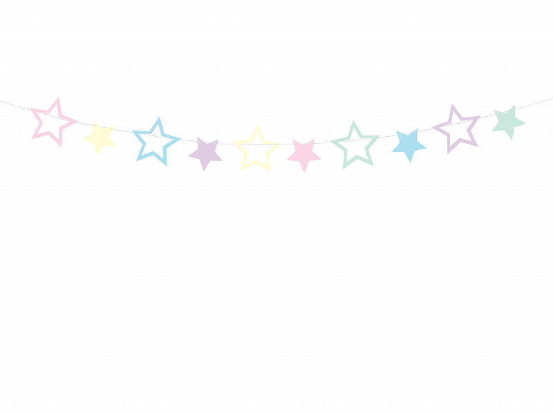 Guirlande Etoiles colorées
