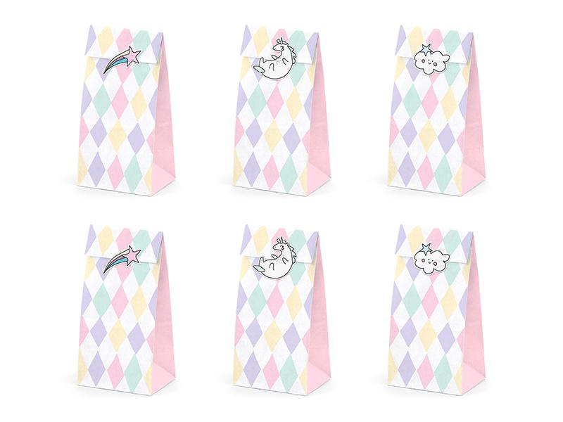 6 sachets bonbons Licorne