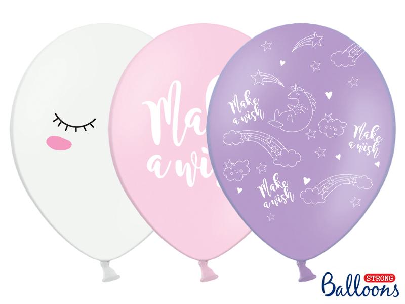 6 ballons anniversaire Licorne