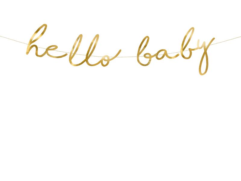 Guirlande baby shower Hello Baby