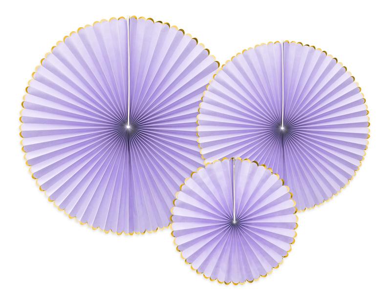 3 rosaces Violets