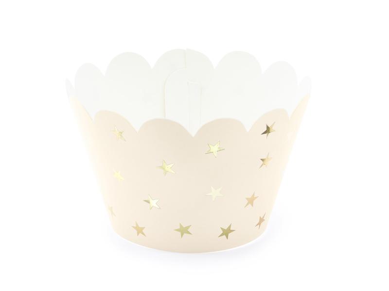 6 décors Cupcakes etoiles