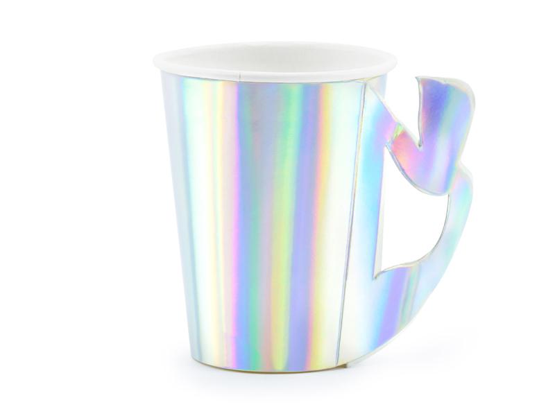 6 gobelets sirene iridescent