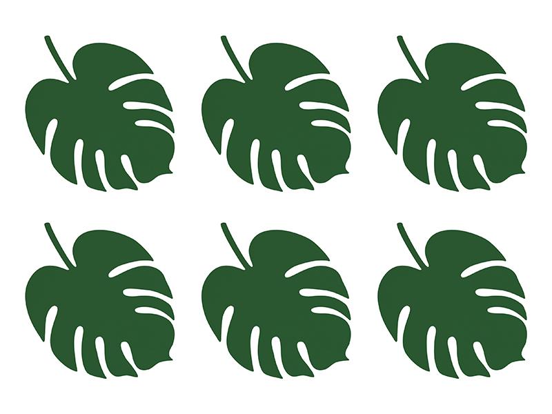 6 décos table Feuille Tropicale