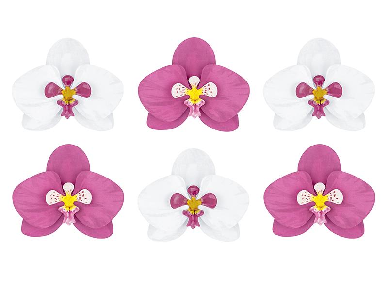 6 décors table orchidées