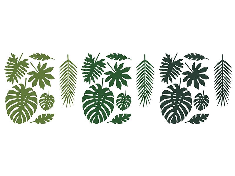 Lot de 21 feuilles Tropicales différentes tailles