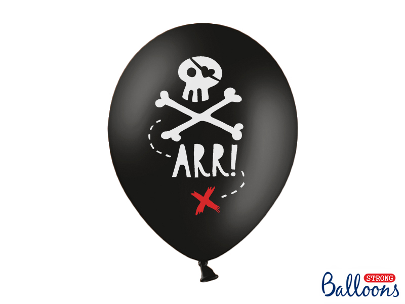 6 ballons anniversaire Pirate