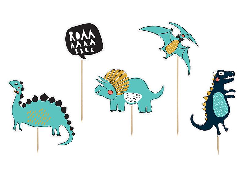 5 décors gateau Dinosaure