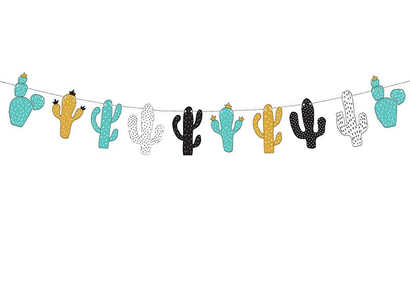 Guirlande anniversaire cactus