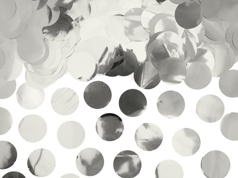 Confettis ronds argentés