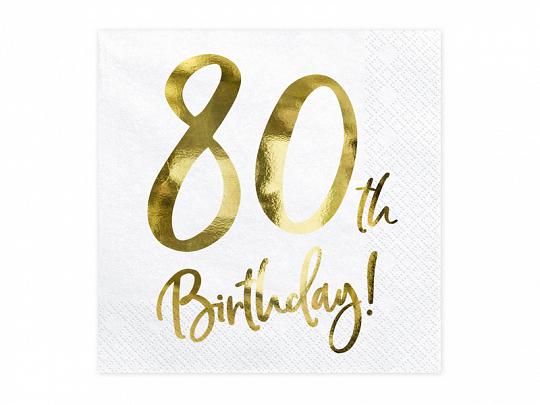 20 serviettes anniversaire 80 ans