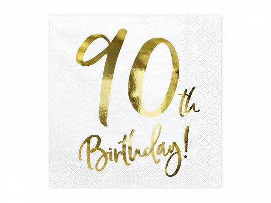 20 serviettes anniversaire 90 ans