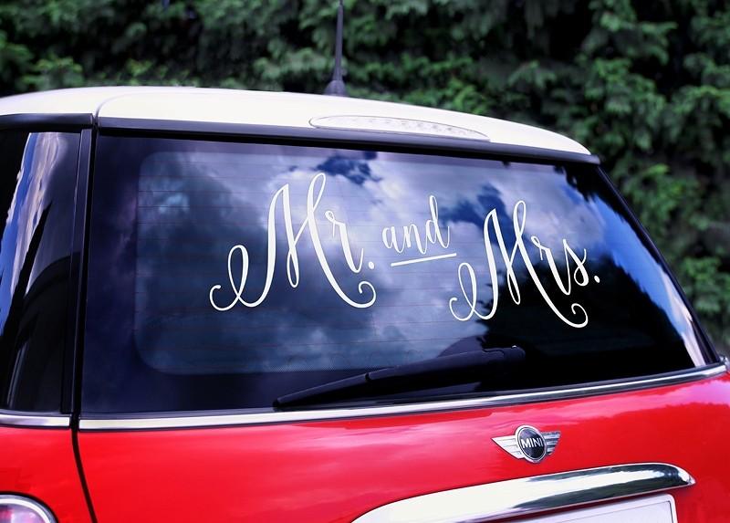 Sticker voiture Mr et Mrs