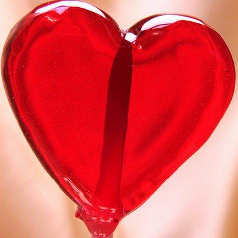 200 sucettes coeur rouge