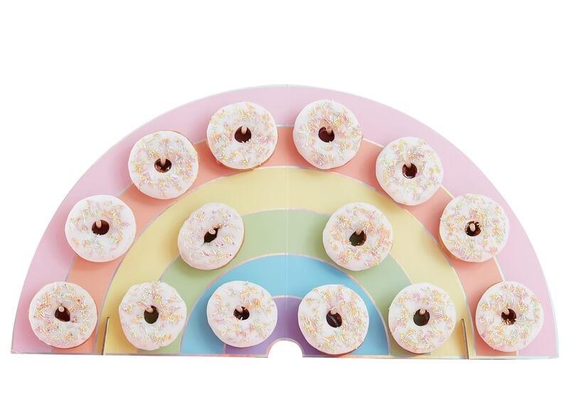 Présentoir à donuts Arc en Ciel