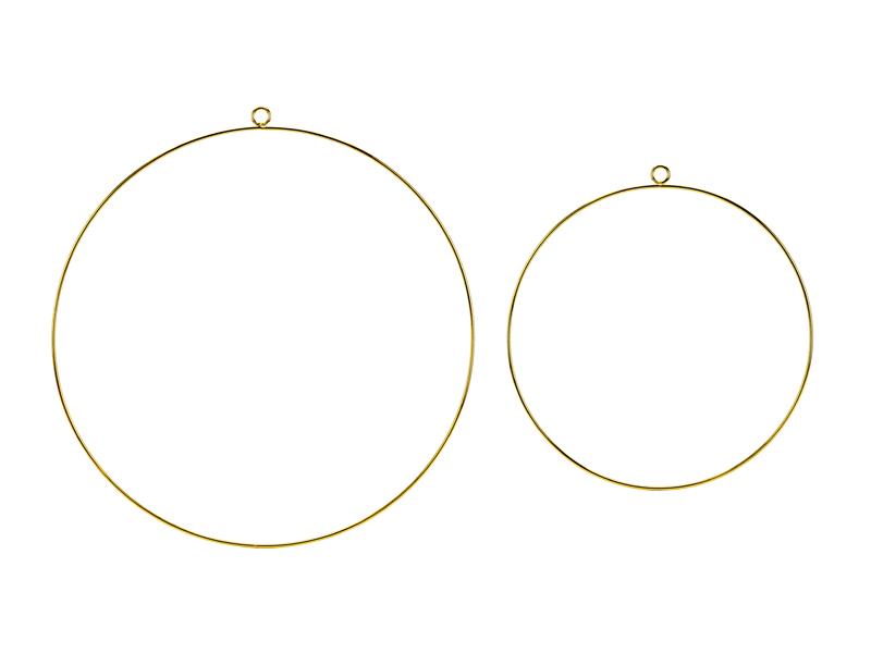 2 cercles dorés