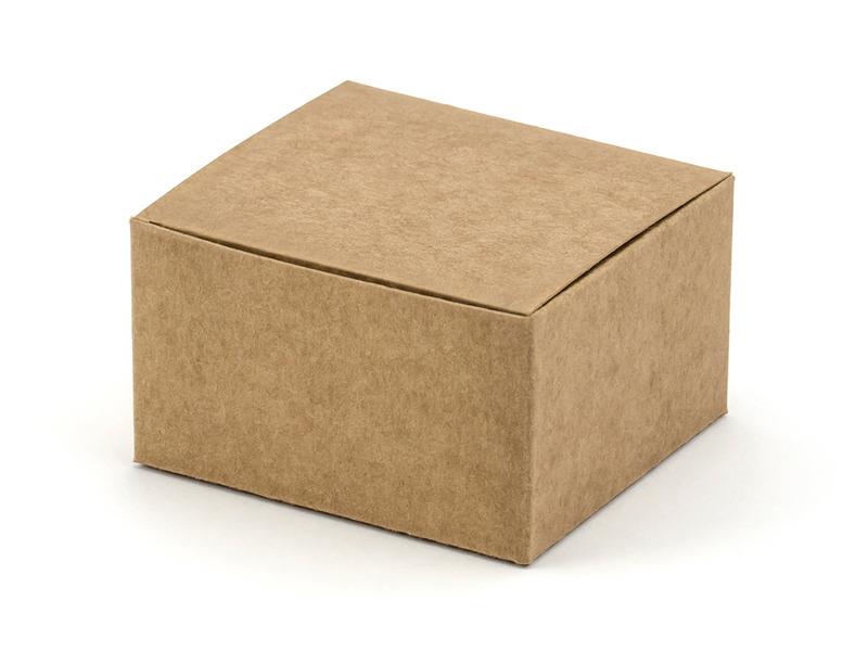 10 Boites dragée cube Kraft