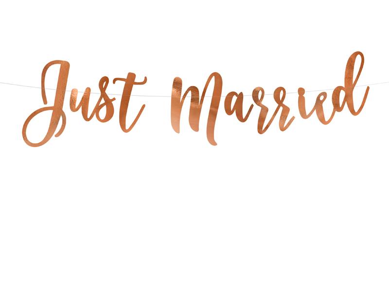 Guirlande Just Married Rose Gold