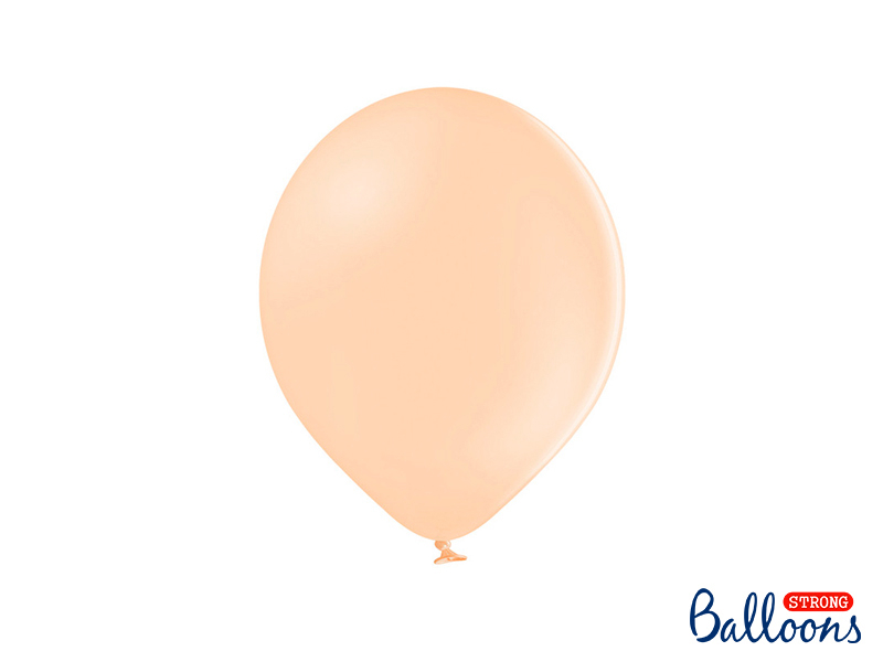 10 ballons Pêche - Pastel - 30 cm