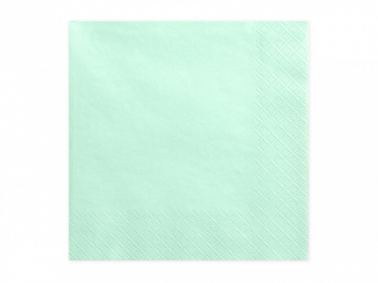 20 serviettes Vert d\'eau