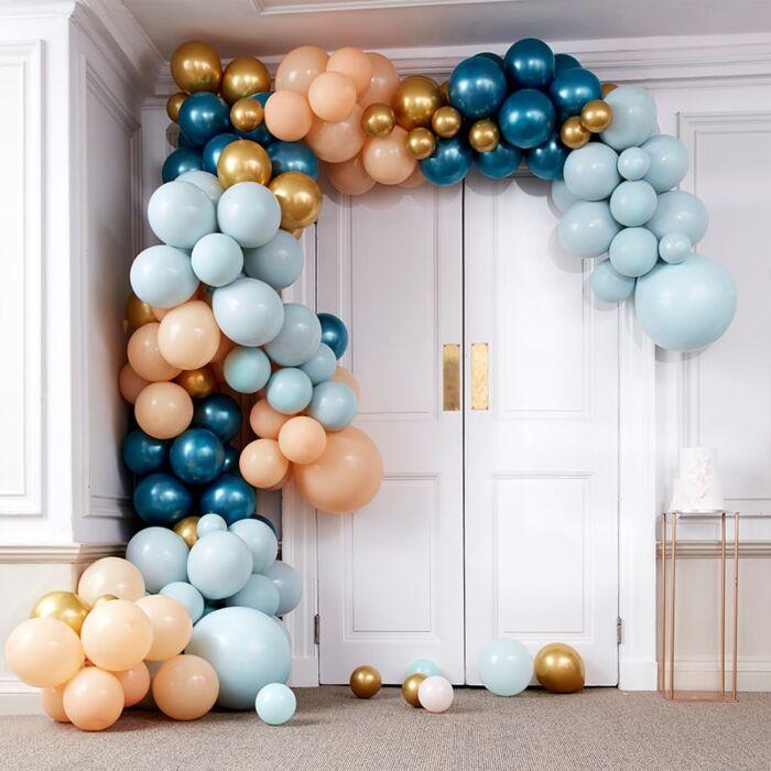 Kit pour guirlande de ballons Bleu canard & Gold