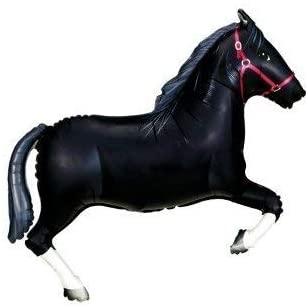 Ballon Forme Cheval Noir 109 CM