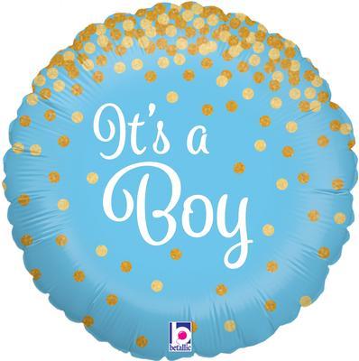 Ballon Baby Shower Its a Boy Bleu