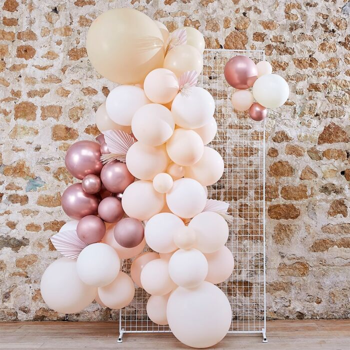 Kit guirlande ballons Pampas & Nude
