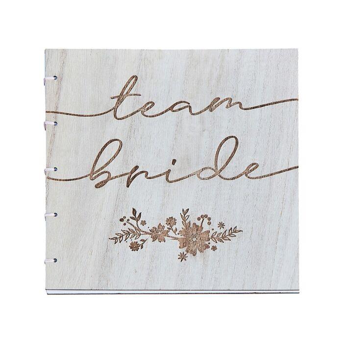 Livre d\'or Team Bride Bois