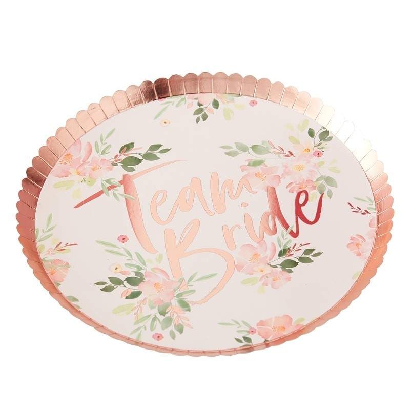 8 assiettes Team Bride Florales
