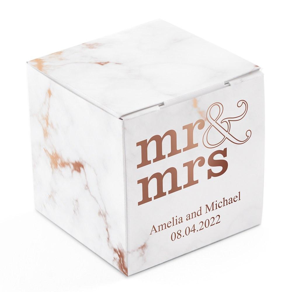 Boite Dragée Mr & Mrs à Personnaliser