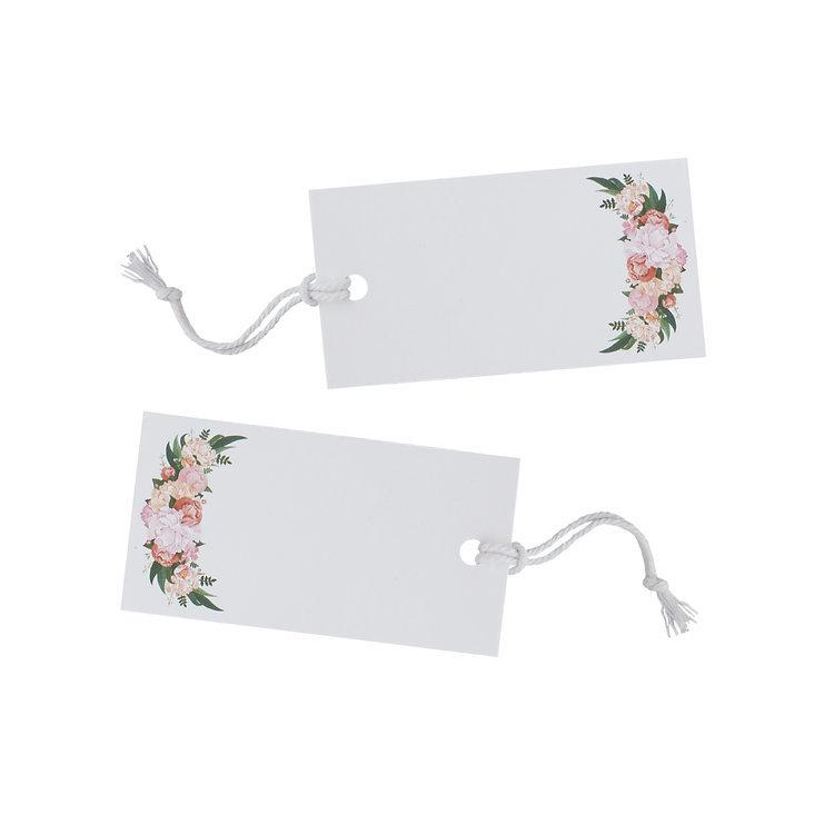 10 étiquettes Florales Bohême