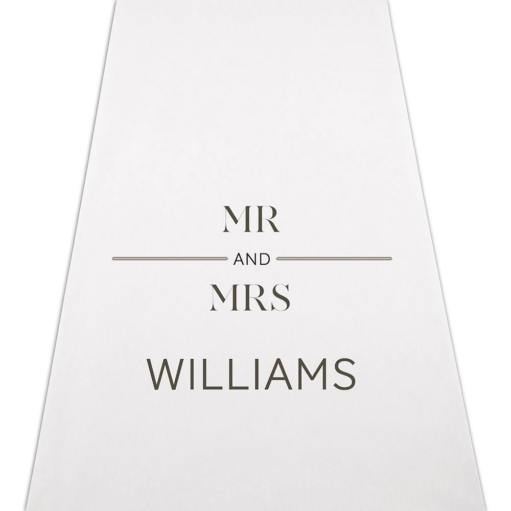 Tapis Mariage MR & MRS personnalisé