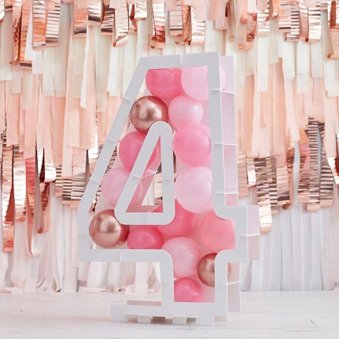 Structure Ballons Chiffre 4 - 81 cm