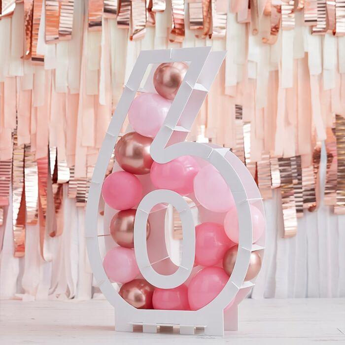 Structure Ballons Chiffre 6 - 81 cm