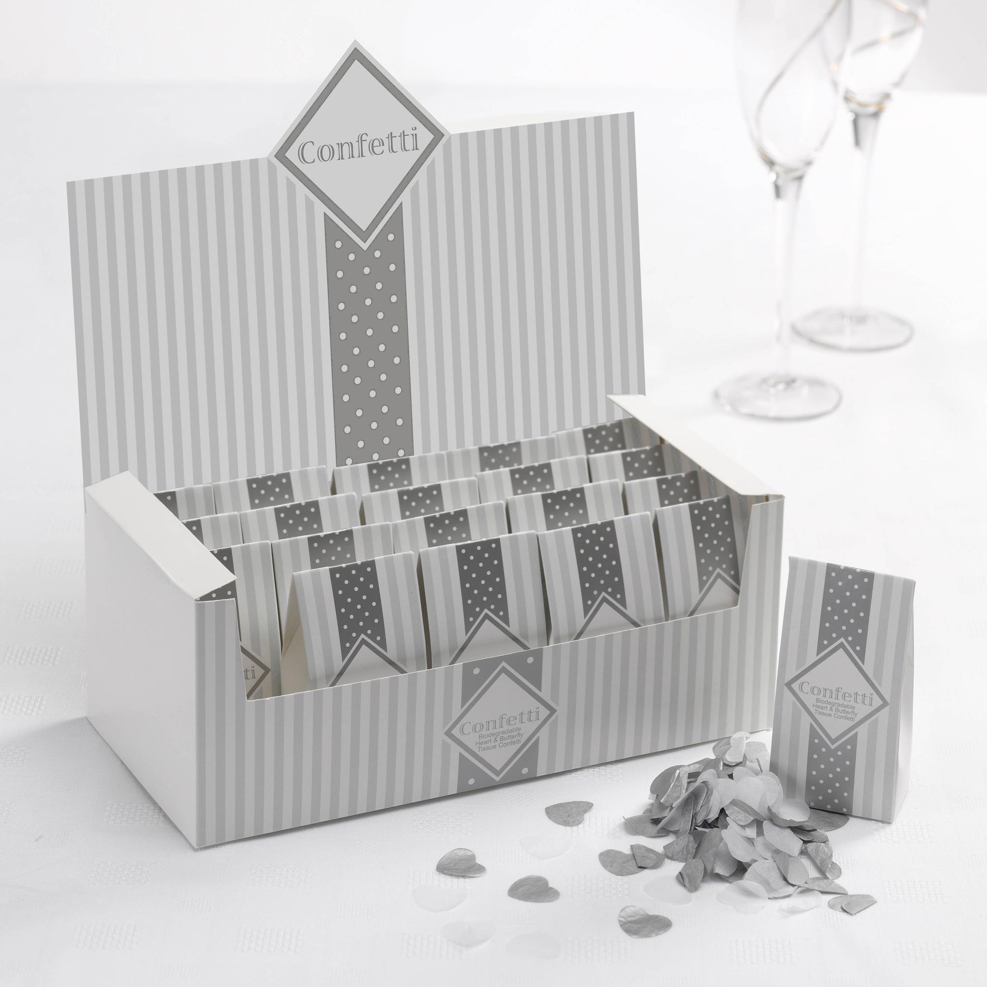 Lot de 20 Confettis papier Argentés