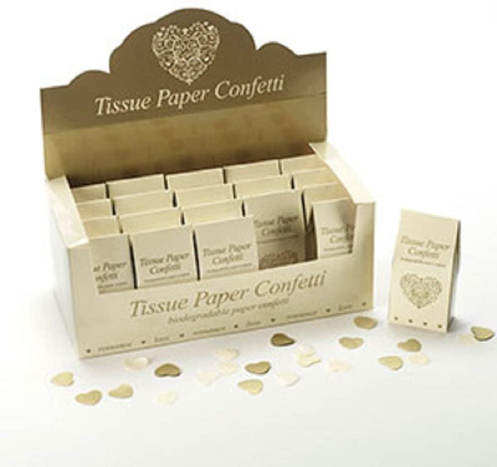 Lot de 20 Confettis papier dorés
