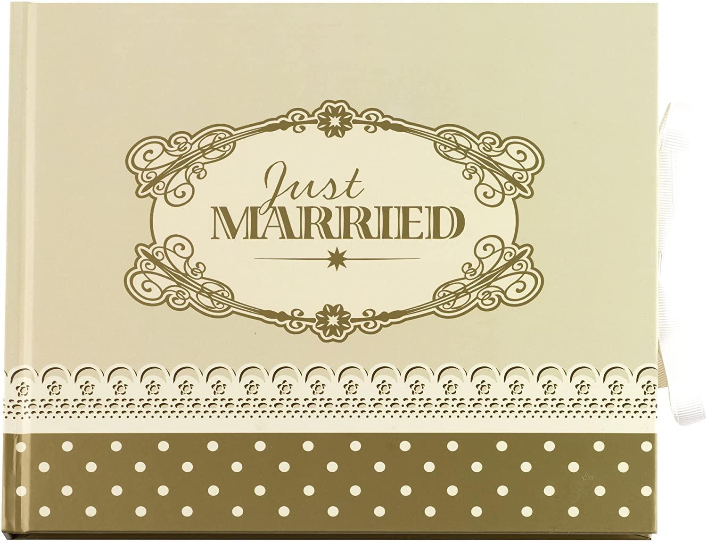 Livre d\'or Just Married Doré