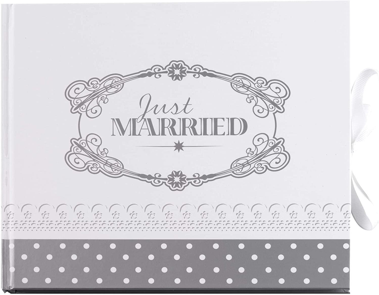 Livre d\'or Just Married Argenté
