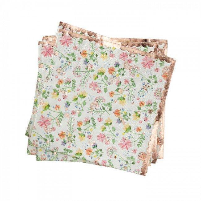 16 Serviettes Florales