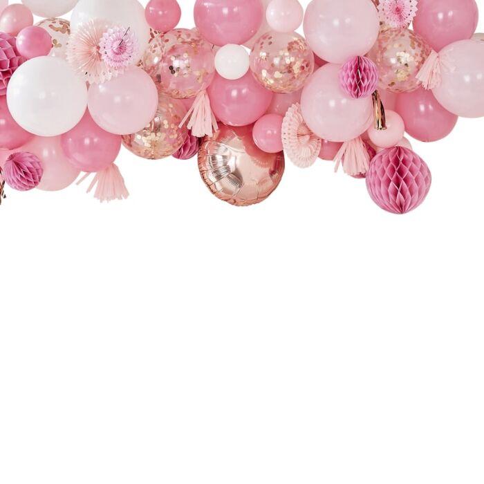 Kit 70 ballons et Boules Rose et Rose Gold