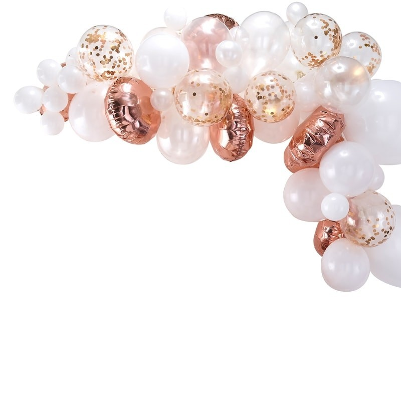 Kit Arche de 70 ballons rose gold