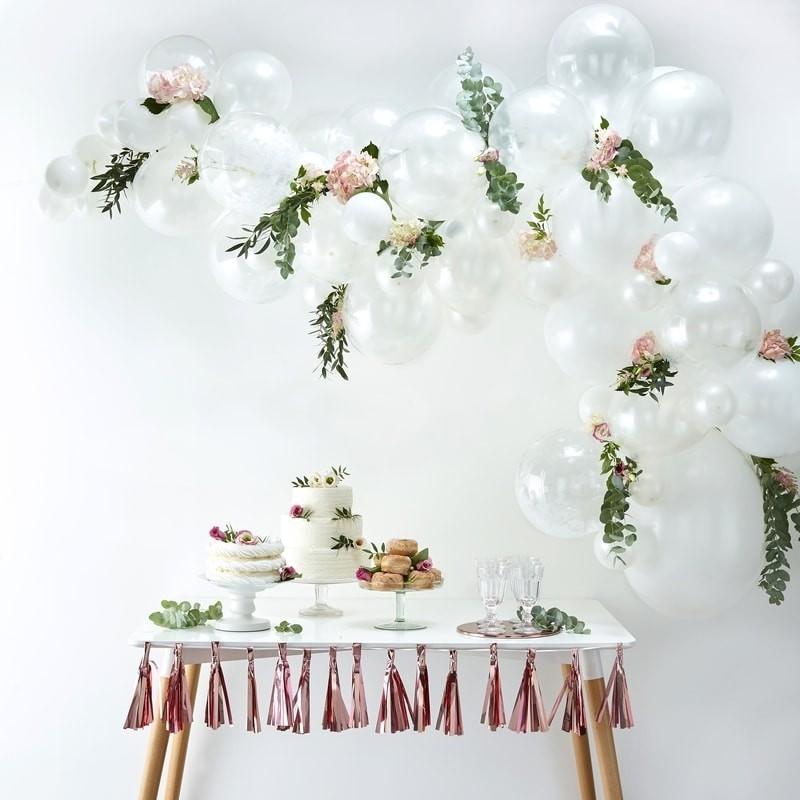 Kit Arche 70 ballons Blancs