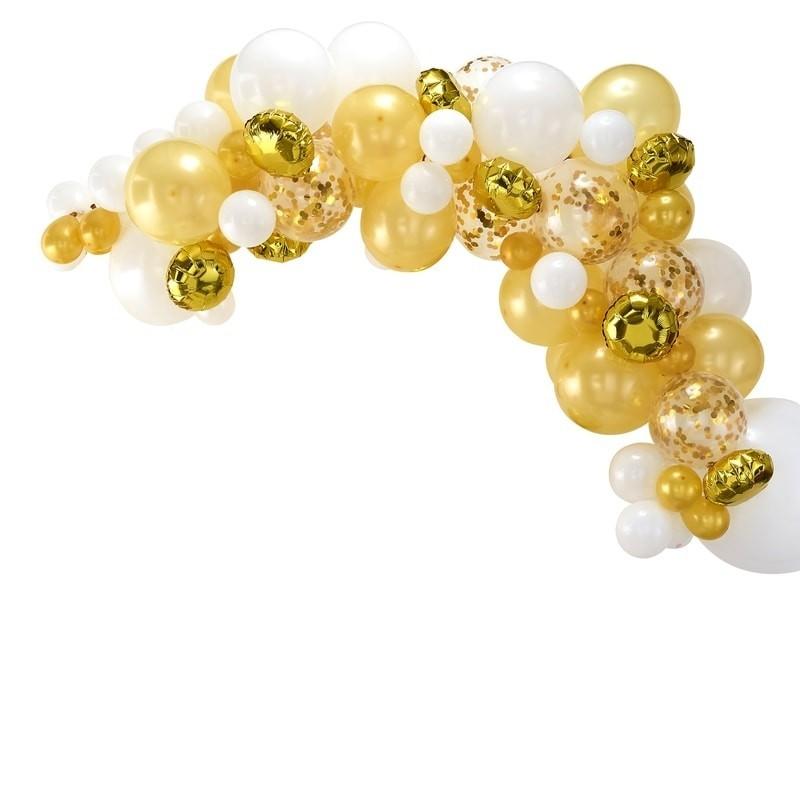 Kit Arche 70 ballons dorés
