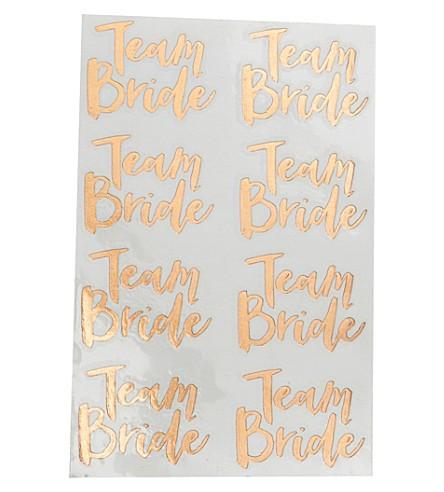 16 Tatouages temporaire Team Bride