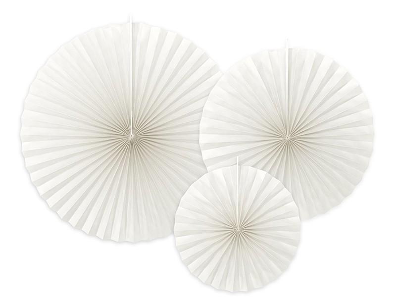 3 rosaces papier blanches